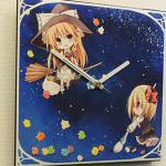 『東方Project』ファブリック時計 魔理沙&ルーミア×悠萩氏
